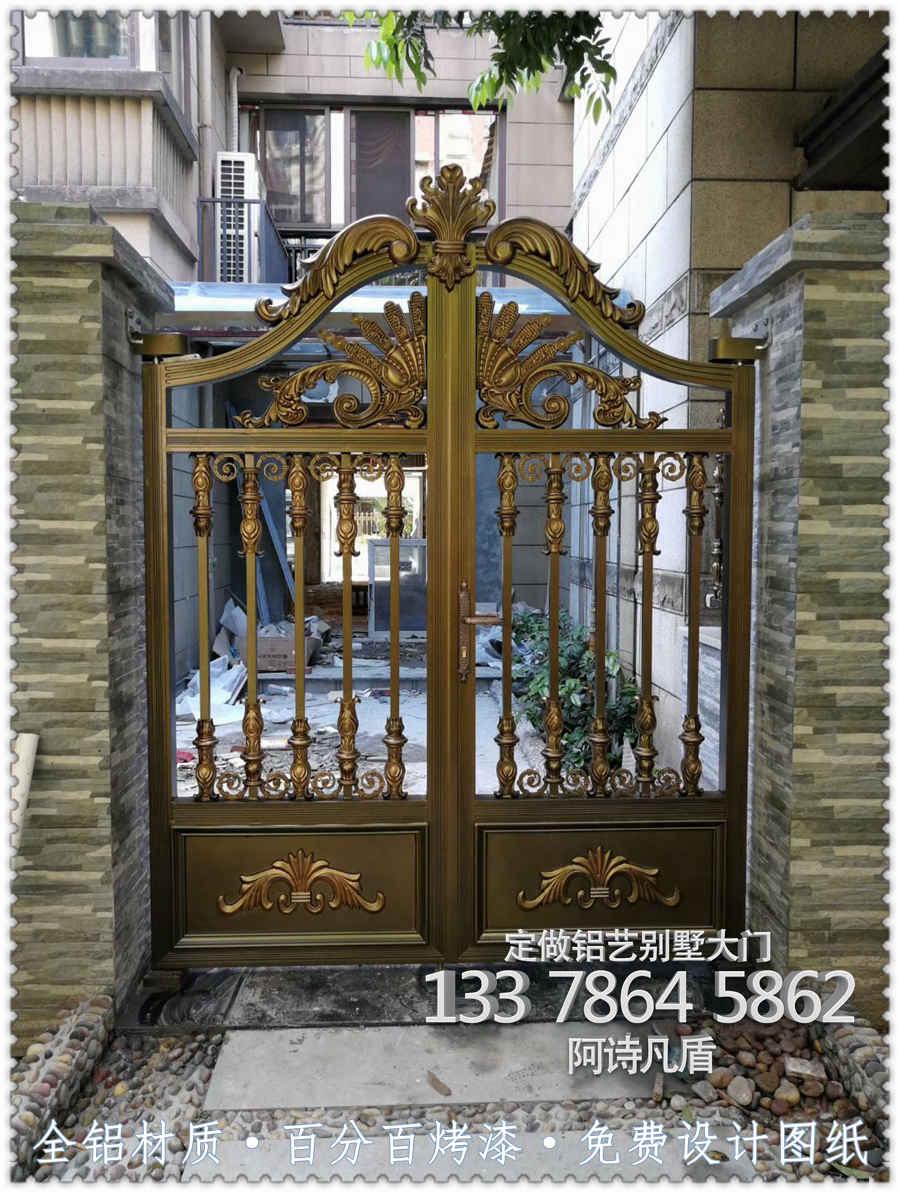 海南房产别墅大门户外安装围墙别墅柱子庭院门